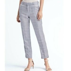 Banana Republic Avery Linen Blend Trouser Pants
